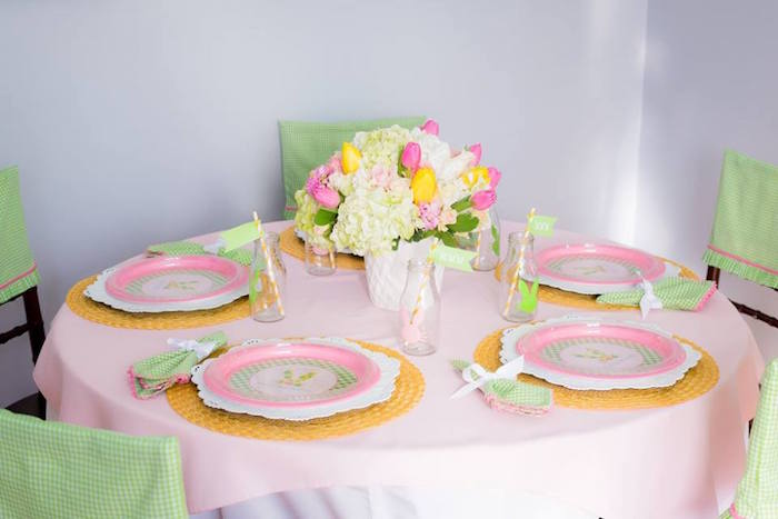 Dining Tablescape from an Easter Bunny Brunch via Kara's Party Ideas | KarasPartyIdeas.com (22)