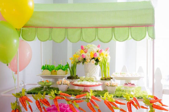 Sweet Table Details from an Easter Bunny Brunch via Kara's Party Ideas | KarasPartyIdeas.com (15)