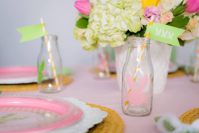 Drink Bottle from an Easter Bunny Brunch via Kara's Party Ideas | KarasPartyIdeas.com (11)