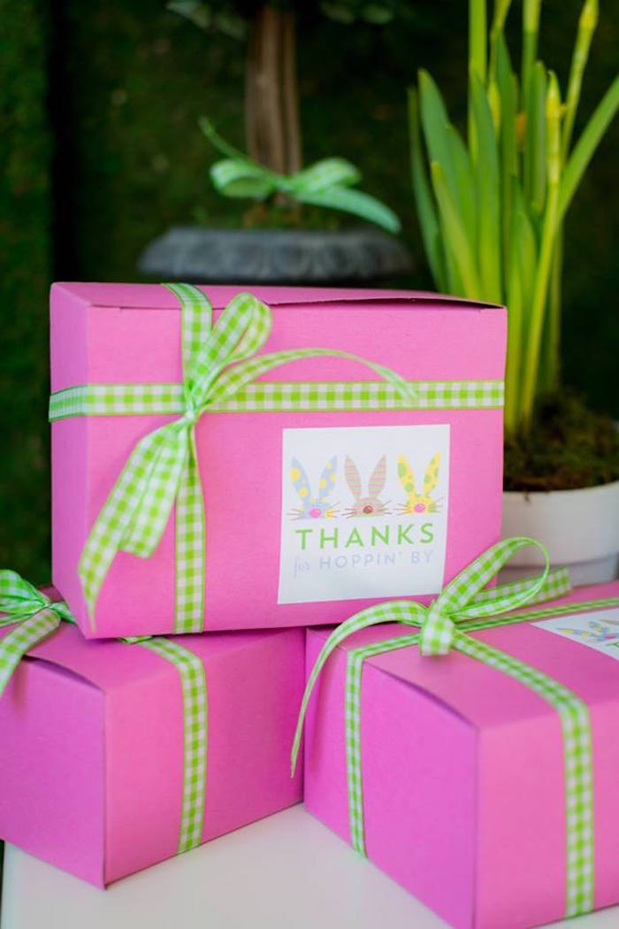 Gift Boxes from an Easter Bunny Brunch via Kara's Party Ideas | KarasPartyIdeas.com (10)