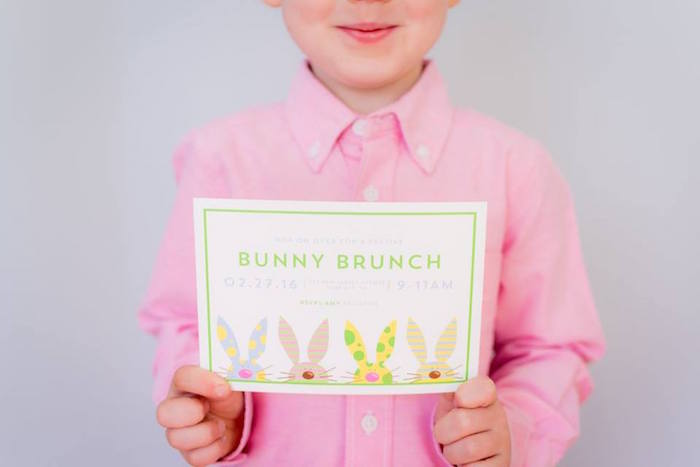 Invitation from an Easter Bunny Brunch via Kara's Party Ideas | KarasPartyIdeas.com (8)