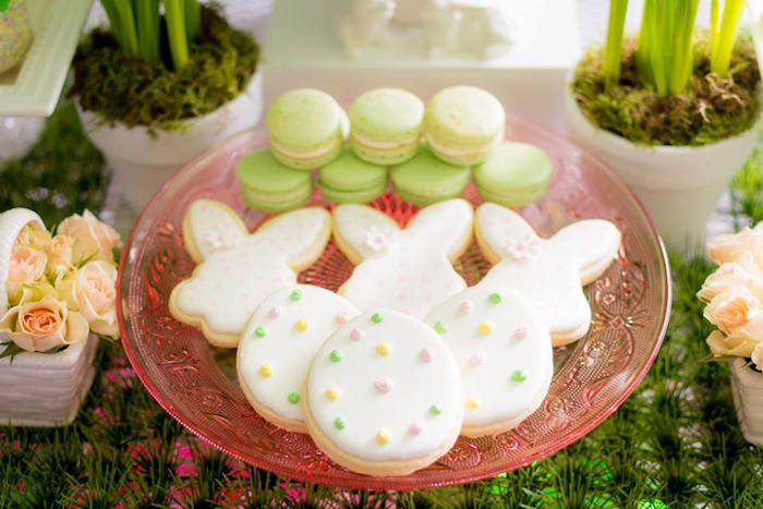 Cookies + Macarons from an Easter Bunny Brunch via Kara's Party Ideas | KarasPartyIdeas.com (33)
