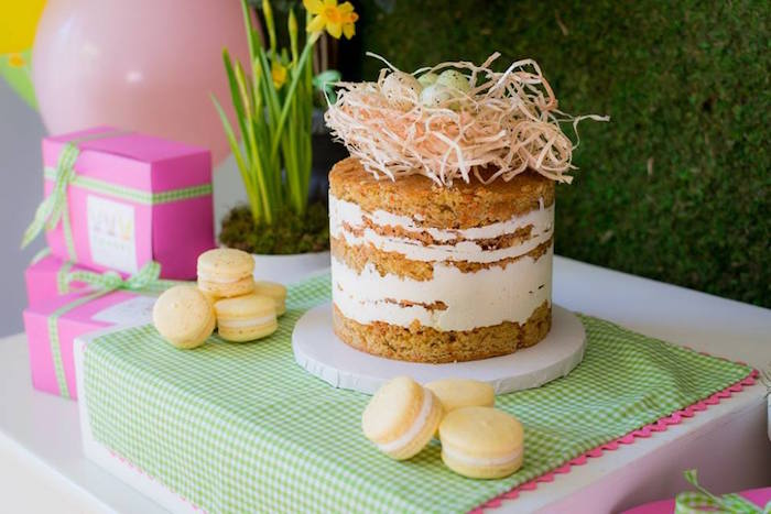Cake from an Easter Bunny Brunch via Kara's Party Ideas | KarasPartyIdeas.com (31)