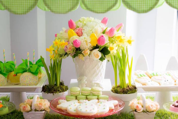 Sweet Table Details from an Easter Bunny Brunch via Kara's Party Ideas | KarasPartyIdeas.com (29)