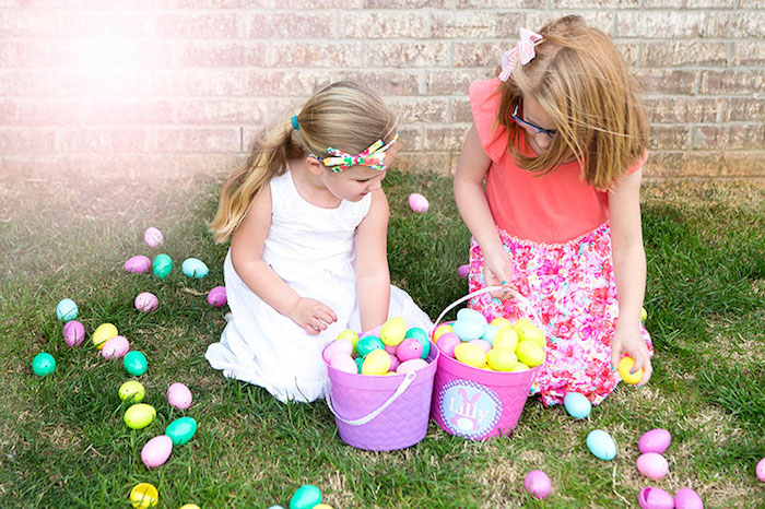 Kids Easter Egg Hunt from an Easter Party for Kids with FREE Printables via Kara's Party Ideas | KarasPartyIdeas.com (12)
