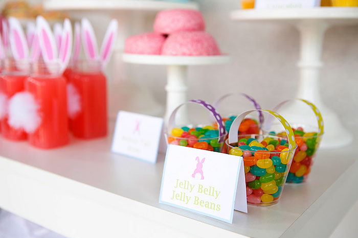 Mini Jelly Belly Easter Baskets from an Easter Party for Kids with FREE Printables via Kara's Party Ideas | KarasPartyIdeas.com (10)