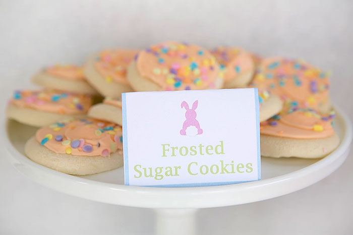 Cookies from an Easter Party for Kids with FREE Printables via Kara's Party Ideas | KarasPartyIdeas.com (9)