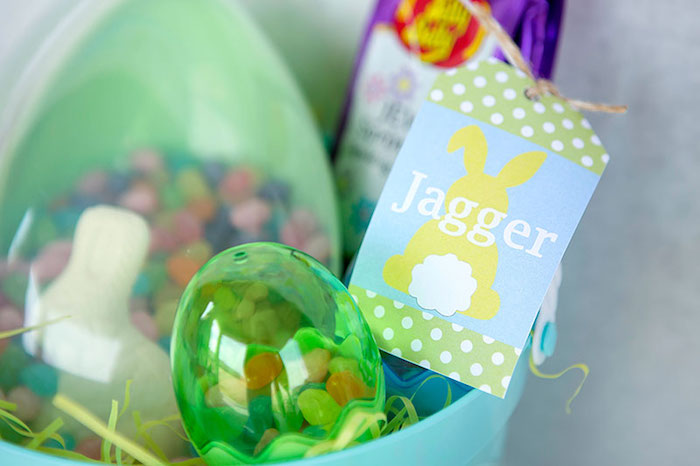 Custom Name Favor Tag from an Easter Party for Kids with FREE Printables via Kara's Party Ideas | KarasPartyIdeas.com (24)