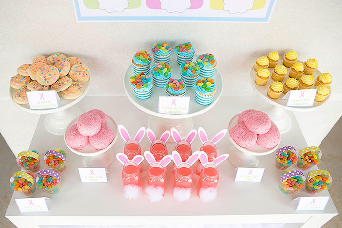 Desserts + Sweets from an Easter Party for Kids with FREE Printables via Kara's Party Ideas | KarasPartyIdeas.com (21)