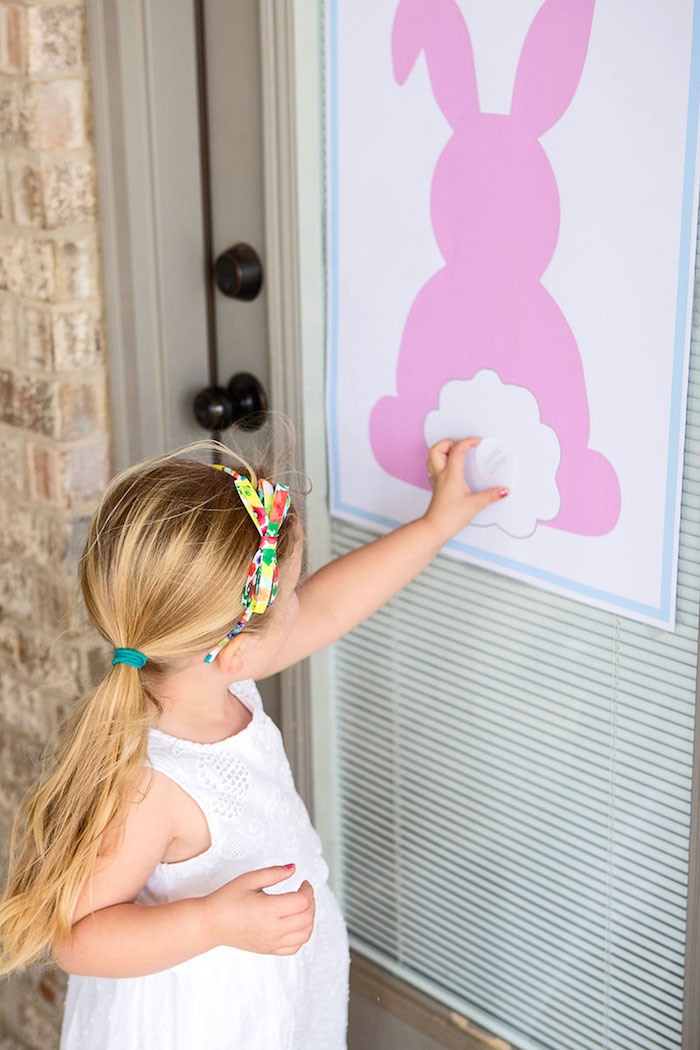 Pin the Tail on the Bunny Game from an Easter Party for Kids with FREE Printables via Kara's Party Ideas | KarasPartyIdeas.com (20)