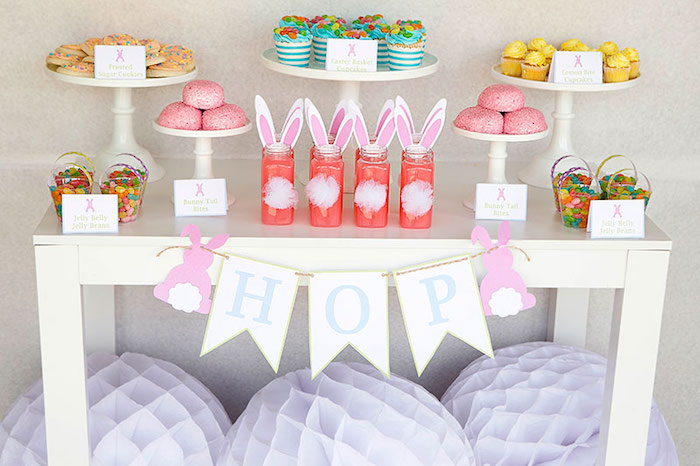 Sweet Table Details from an Easter Party for Kids with FREE Printables via Kara's Party Ideas | KarasPartyIdeas.com (19)