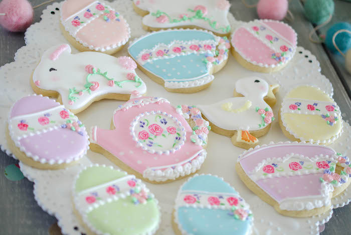 Cookies from an Easter Tea Party via Kara's Party Ideas | The Place for All Things Party! KarasPartyIdeas.com (17)