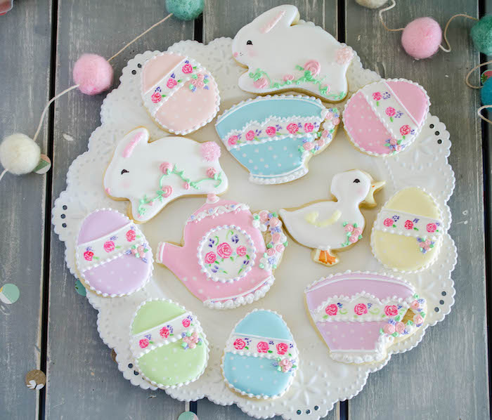 Cookies from an Easter Tea Party via Kara's Party Ideas | The Place for All Things Party! KarasPartyIdeas.com (16)