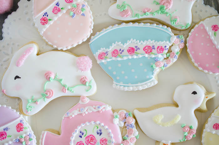 Cookies from an Easter Tea Party via Kara's Party Ideas | The Place for All Things Party! KarasPartyIdeas.com (15)