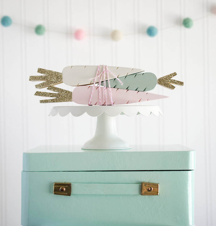 Wooden Pastel Carrot Display from an Easter Tea Party via Kara's Party Ideas | The Place for All Things Party! KarasPartyIdeas.com (30)