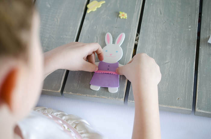 Bunny Crafting Activity from an Easter Tea Party via Kara's Party Ideas | The Place for All Things Party! KarasPartyIdeas.com (10)