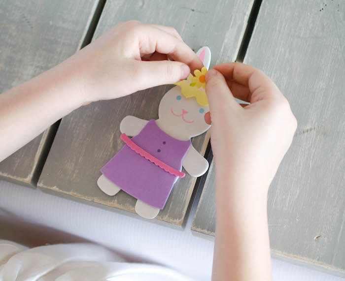 Bunny Crafting Activity from an Easter Tea Party via Kara's Party Ideas   The Place for All Things Party! KarasPartyIdeas.com (9)