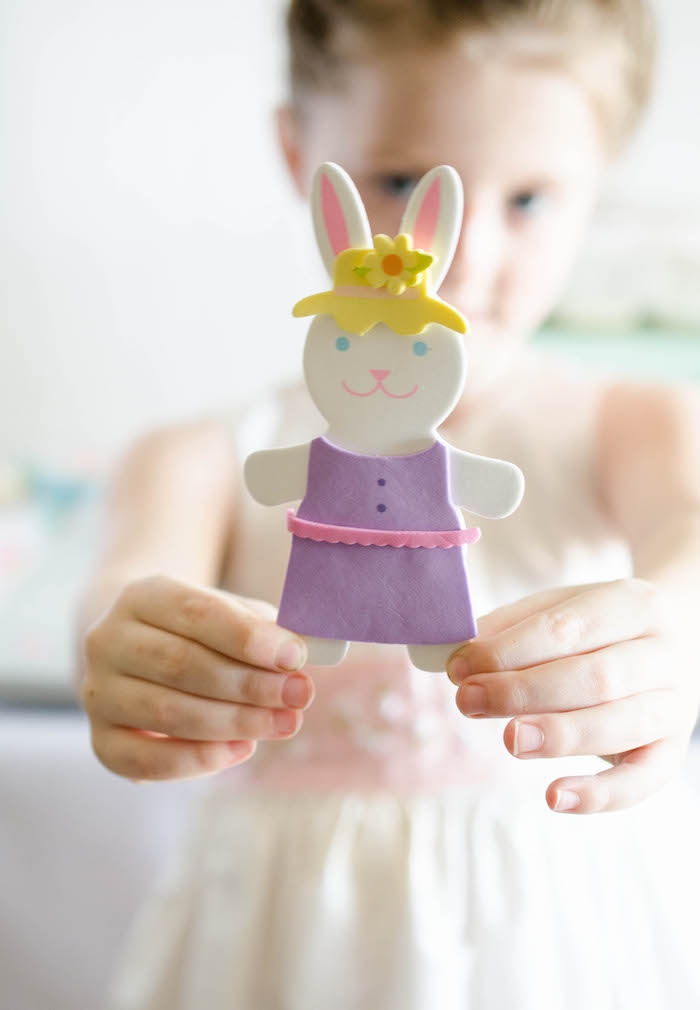 Foam Bunny Doll from an Easter Tea Party via Kara's Party Ideas | The Place for All Things Party! KarasPartyIdeas.com (8)