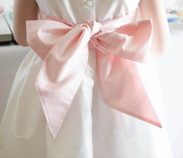Easter Dress Bow from an Easter Tea Party via Kara's Party Ideas | The Place for All Things Party! KarasPartyIdeas.com (7)