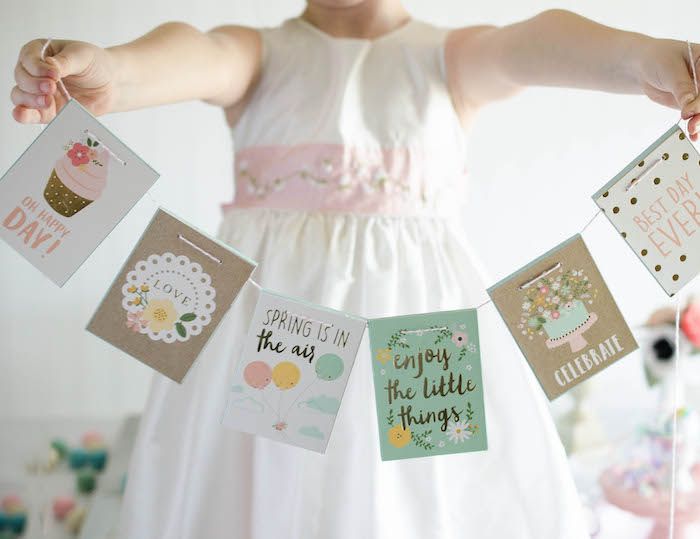 Spring Banner from an Easter Tea Party via Kara's Party Ideas | The Place for All Things Party! KarasPartyIdeas.com (4)