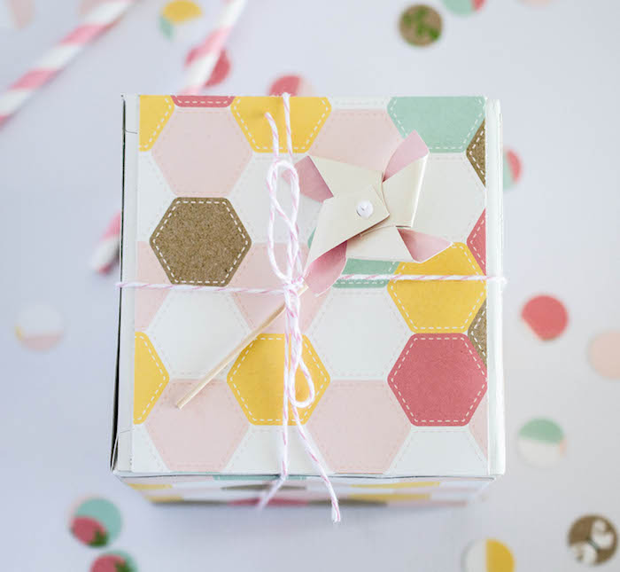 Invitation Gift Box from an Easter Tea Party via Kara's Party Ideas | The Place for