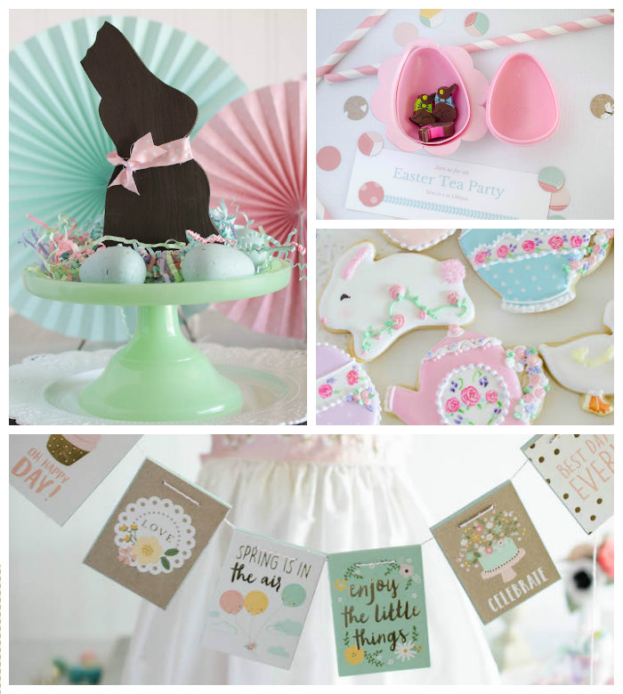 Decor + Details from an Easter Tea Party via Kara's Party Ideas | The Place for All Things Party! KarasPartyIdeas.com (1)