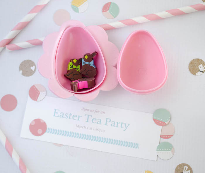 Plastic Egg Invitation from an Easter Tea Party via Kara's Party Ideas | The Place for All Things Party! KarasPartyIdeas.com (26)