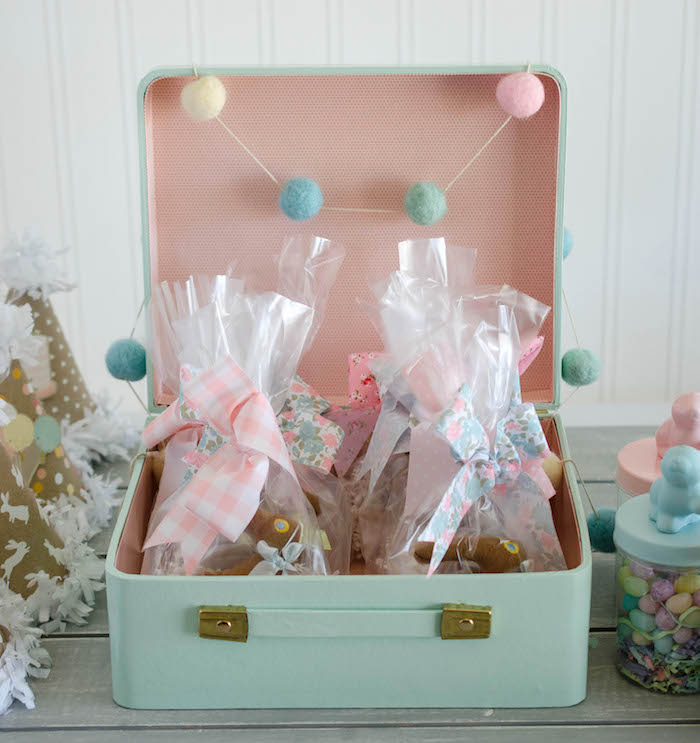 Vintage Suitcase full of Favors from an Easter Tea Party via Kara's Party Ideas | The Place for All Things Party! KarasPartyIdeas.com (24)