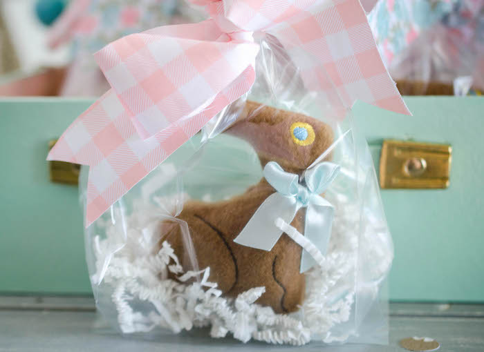 Plush Bunny Favor from an Easter Tea Party via Kara's Party Ideas | The Place for All Things Party! KarasPartyIdeas.com (23)
