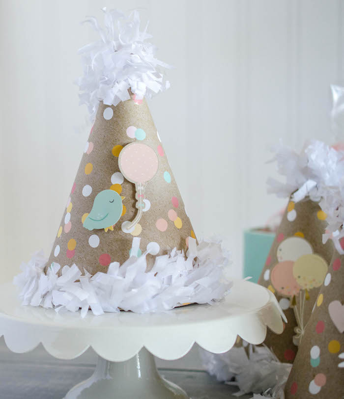 Party Hat from an Easter Tea Party via Kara's Party Ideas | The Place for All Things Party! KarasPartyIdeas.com (22)