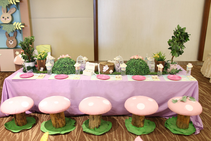 Kara\'s Party Ideas Fairy Garden 1st Birthday Party | Kara\'s Party Ideas