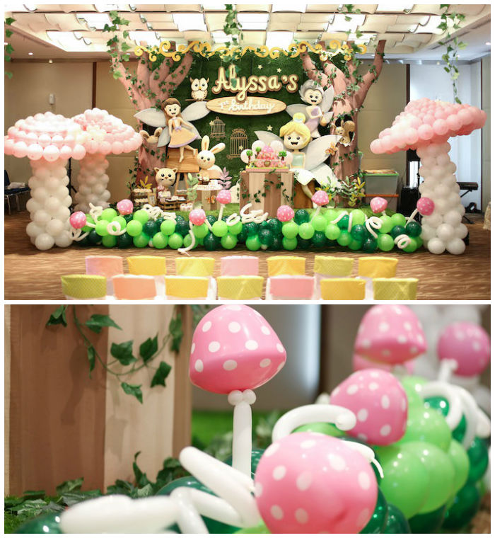 Kara 39 s party ideas fairy garden 1st birthday party kara for Decoration theme jardin