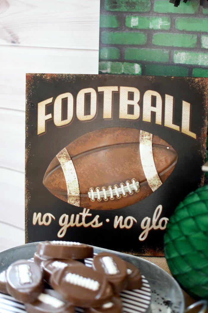 Kara S Party Ideas Football Themed Birthday Party Kara S