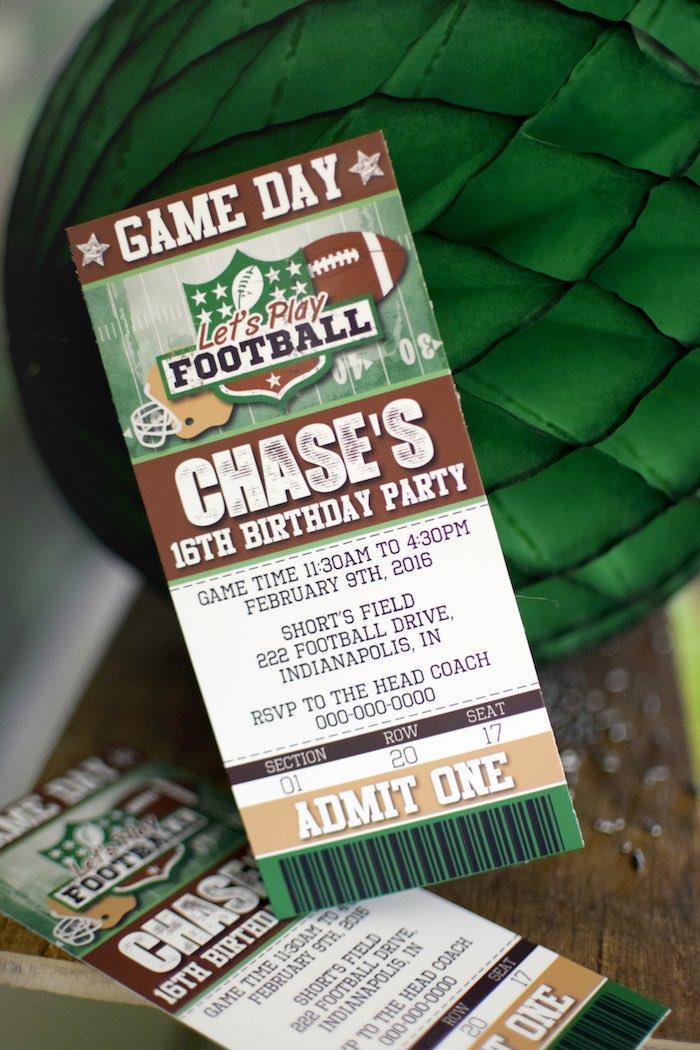 Kara\'s Party Ideas Football Themed Birthday Party   Kara\'s Party Ideas