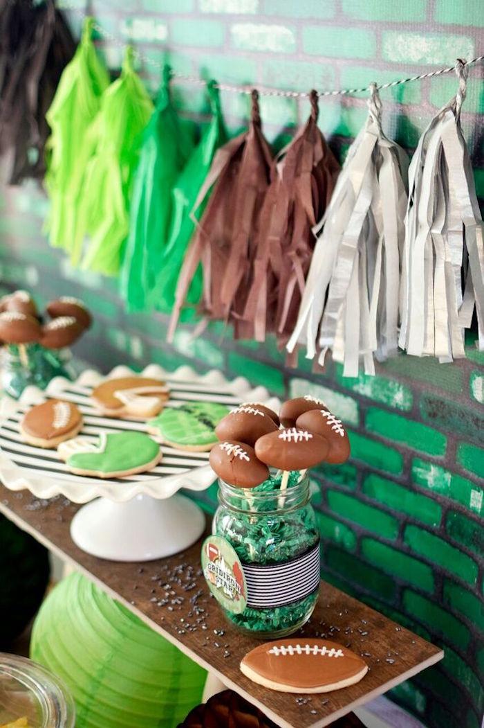 Sweets Decor From A Football Themed Birthday Party Via Kara S Ideas Karaspartyideas