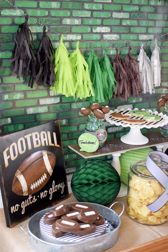 Kara S Party Ideas Football Themed Birthday Party Kara S
