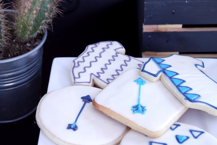 Cookies from a Geometric Baby Shower via Kara's Party Ideas | KarasPartyIdeas.com (28)