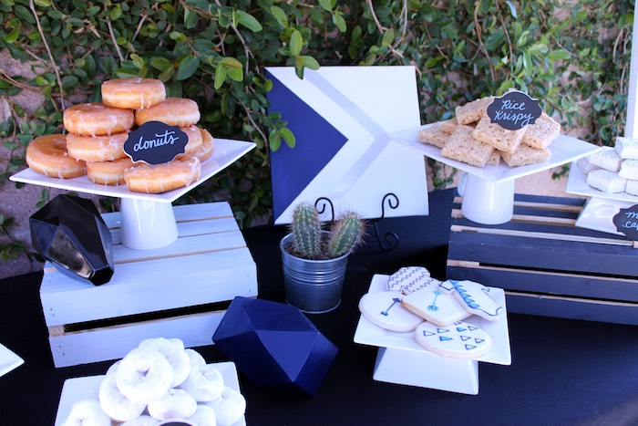 Dessert Table Details from a Geometric Baby Shower via Kara's Party Ideas | KarasPartyIdeas.com (27)
