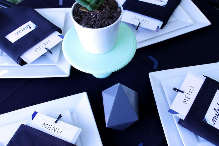 Guest Table from a Geometric Baby Shower via Kara's Party Ideas | KarasPartyIdeas.com (21)