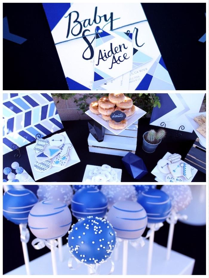 Details from a Geometric Baby Shower via Kara's Party Ideas | KarasPartyIdeas.com (3)