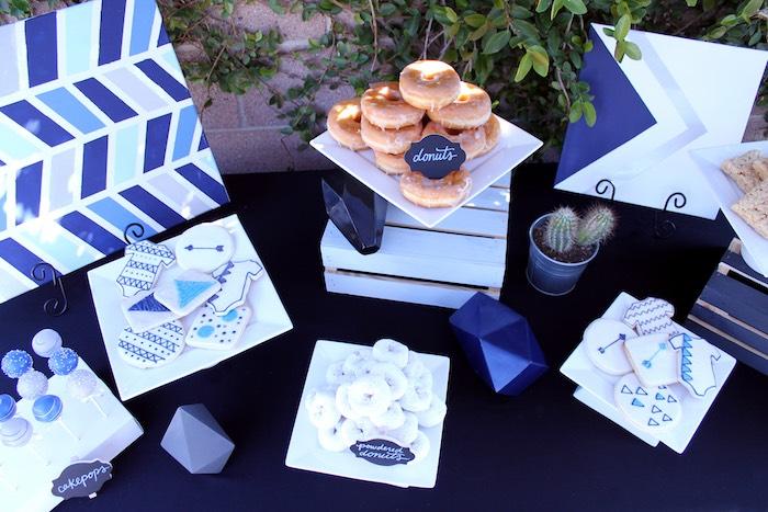Sweet Table from a Geometric Baby Shower via Kara's Party Ideas | KarasPartyIdeas.com (32)