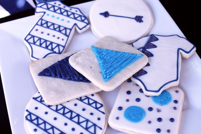 Cookies from a Geometric Baby Shower via Kara's Party Ideas | KarasPartyIdeas.com (30)