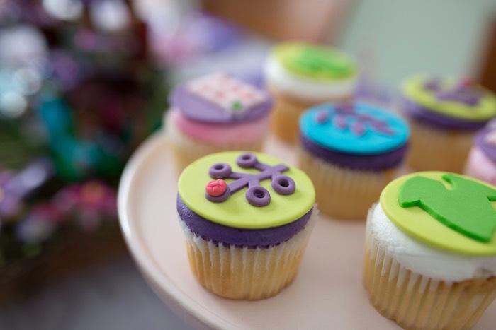 Cupcakes from a Girl Themed Lego Party via Kara's Party Ideas   KarasPartyIdeas.com (28)