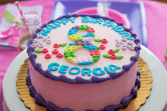 Cake From A Girl Themed Lego Party Via Karas Ideas