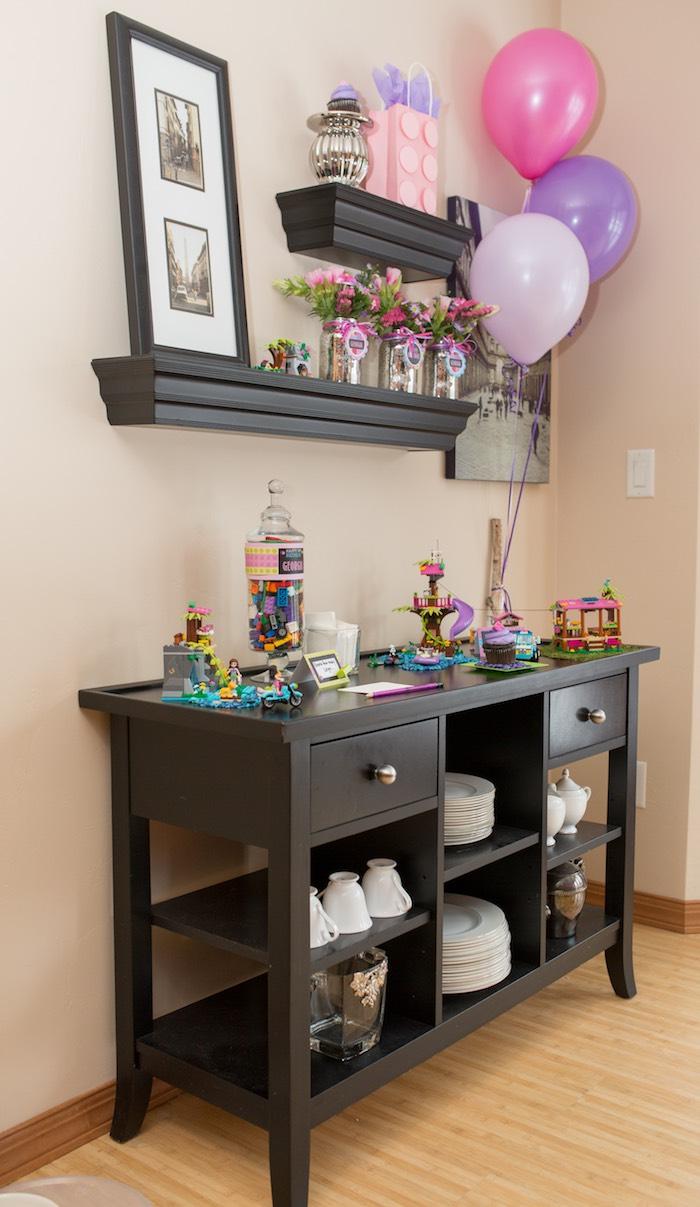Table from a Girl Themed Lego Party via Kara's Party Ideas   KarasPartyIdeas.com (16)