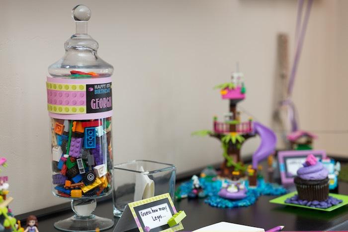 Activity Table from a Girl Themed Lego Party via Kara's Party Ideas   KarasPartyIdeas.com (36)