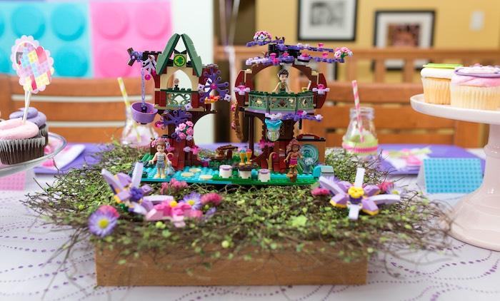 Lego Centerpiece From A Girl Themed Party Via Karas Ideas