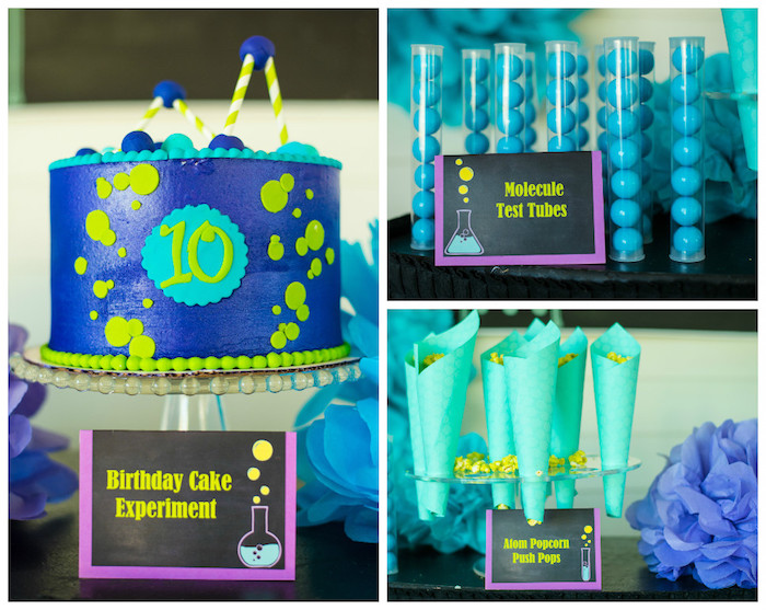 Cake + Sweet Table Favors from a Girly Scientific Spa Birthday Party via Kara's Party Ideas! KarasPartyIdeas.com (21)