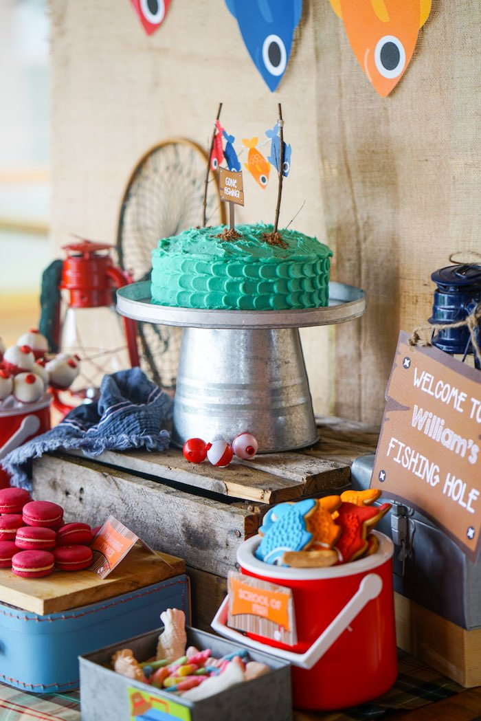 Karas party ideas williams gone fishing birthday party karas sweet table details from a gone fishing birthday party via karas party ideas karaspartyideas negle Images