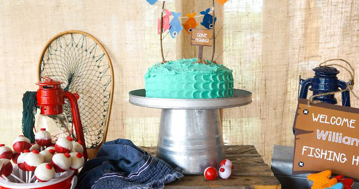 Sweet Table Details from a Gone Fishing Birthday Party via Kara's Party Ideas! KarasPartyIdeas.com (1)